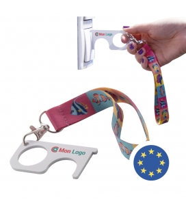 Porte clé de protection avec bracelet - NO TOUCH WRIST - Fabrication EUROPE