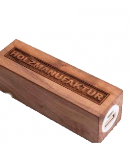 Powerbank carré en bois