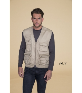 Gilet reporter multipoches SOL'S - 200g/m² - WILD