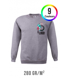 Sweat-shirt couleur - 280g/m²