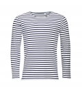Tee-shirt homme manches longues rayé SOL'S MARINE MEN